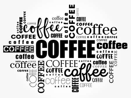 Coffee words cloud collage, art concept background