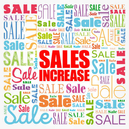 Sales Increase word cloud collage, business concept background