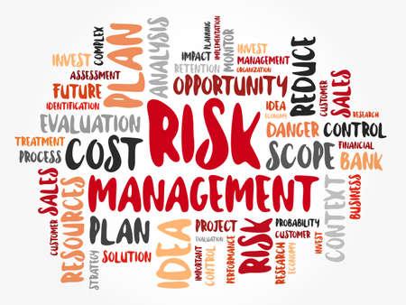 Risk Management word cloud collage, business concept background Ilustração