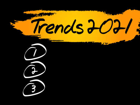 Trends 2021 Blank List, concept background