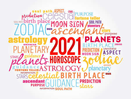 Your 2021 HOROSCOPE word cloud collage, concept background