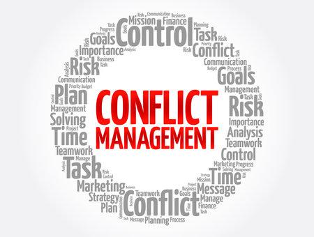 Conflict Management word cloud, business concept background