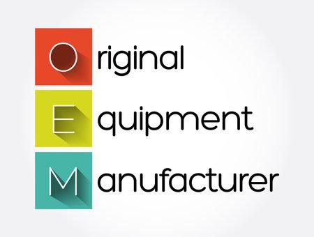 OEM - Original Equipment Manufacturer acronym, business concept background