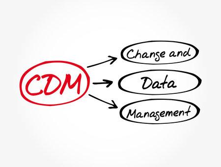 CDM - Change and Data Management acronym, business concept background