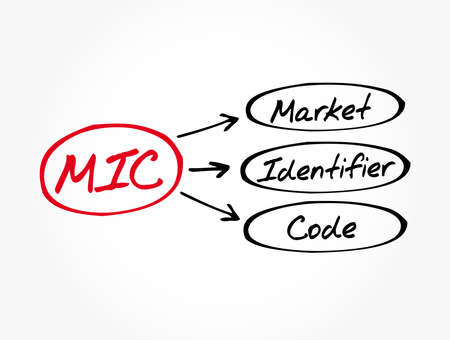 MIC - Market Identifier Code acronym, business concept background