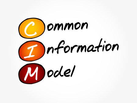 CIM - Common Information Model acronym, concept background