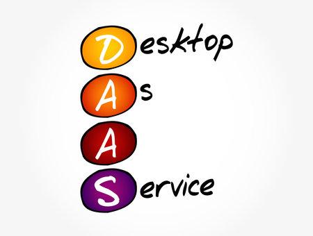 DAAS - Desktop As A Service acronym, technology concept background