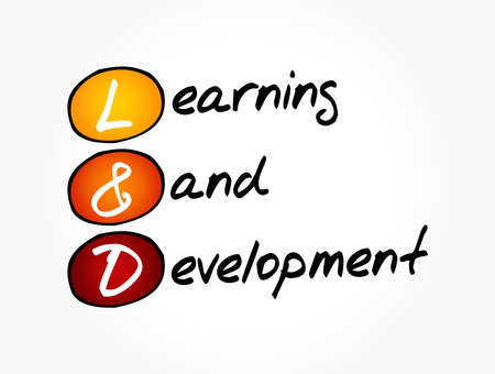 L&D - Learning and Development acronym, business concept background