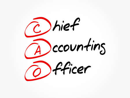 CAO - Chief Accounting Officer acronym, business concept background Vecteurs