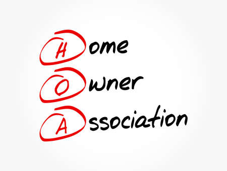 HOA - Homeowners Association acronym, business concept background