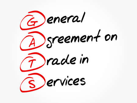 GATS - General Agreement on Trade in Services acronym, business concept background
