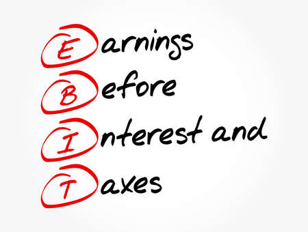EBIT - Earnings Before Interest and Taxes acronym, business concept background