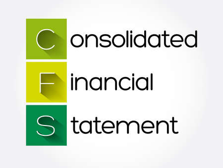 CFS - Consolidated Financial Statement acronym, business concept background 矢量图像