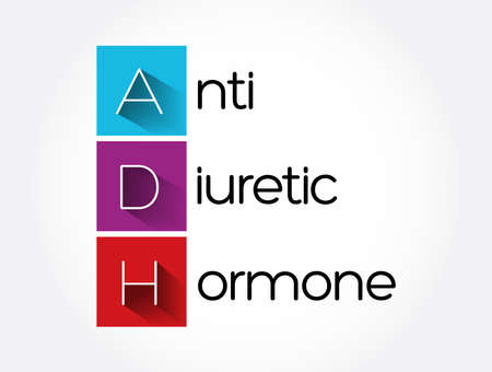 ADH - Antidiuretic Hormone acronym, concept background
