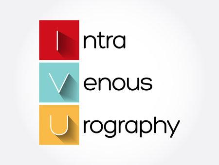 IVU - intravenous urography acronym, medical concept background Stock Illustratie