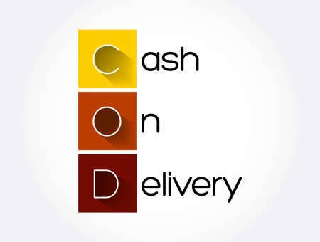 COD - Cash On Delivery acronym, business concept background Stock Illustratie