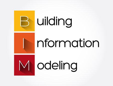 BIM - Building Information Modeling acronym, business concept background