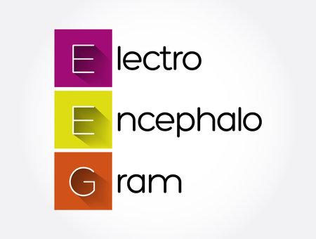 EEG - electroencephalogram acronym, medical concept background