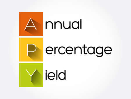 APY - Annual Percentage Yield acronym, business concept background