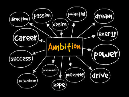 Ambition mind map, concept for presentations and reports Vektorové ilustrace
