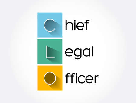CLO - Chief Legal Officer acronym, business concept background
