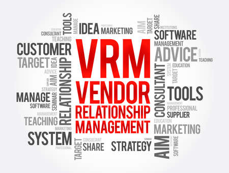 VRM - Vendor Relationship Management word cloud, business concept background