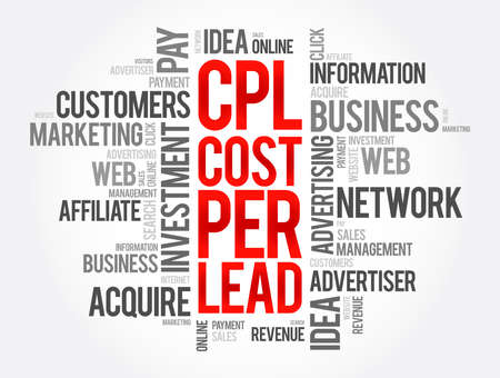 CPL - Cost Per Lead word cloud, business concept background