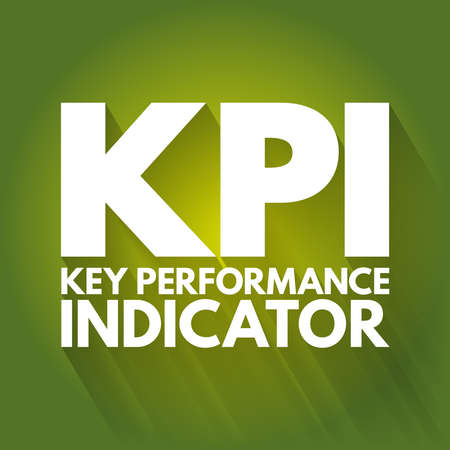 KPI - Key Performance Indicator acronym, business concept background Ilustração