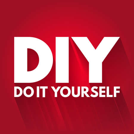 DIY - Do It Yourself acronym, business concept background