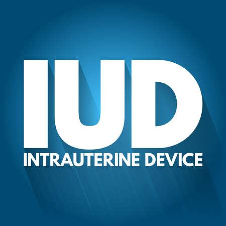 IUD - Intra Uterine Device acronym, medical concept background