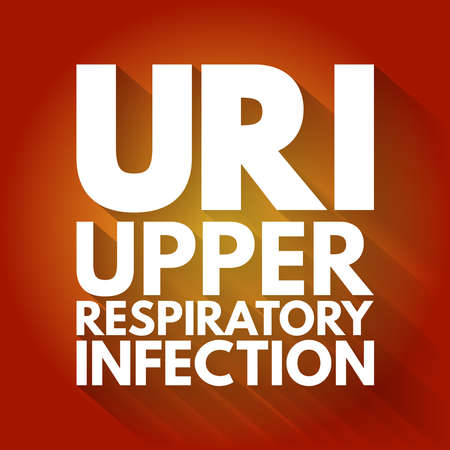 URI - Upper Respiratory Infection acronym, medical concept background