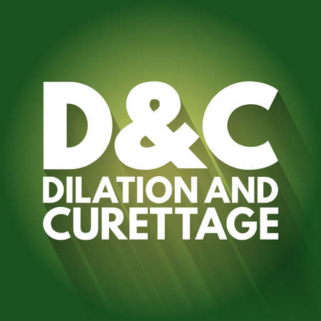 D and C - Dilation and Curettage acronym, concept background Vectores
