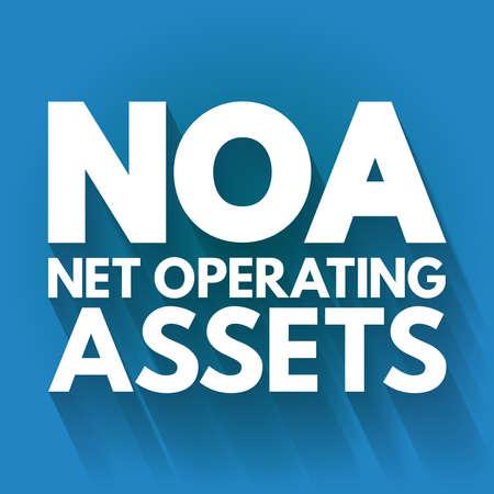NOA - Net Operating Assets acronym, business concept background Vektorové ilustrace