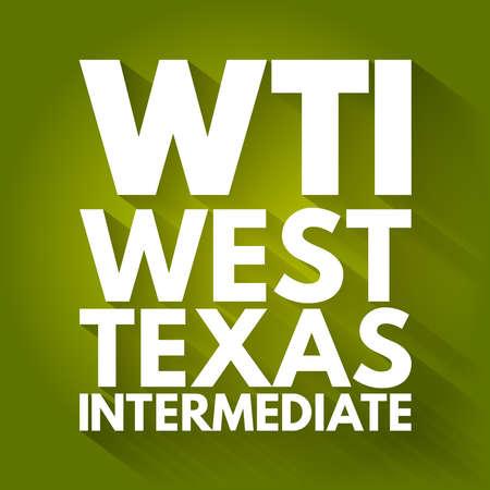 WTI - West Texas Intermediate acronym, concept background