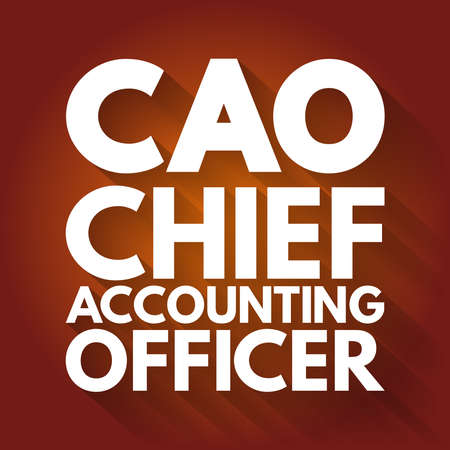 CAO - Chief Accounting Officer acronym, business concept background