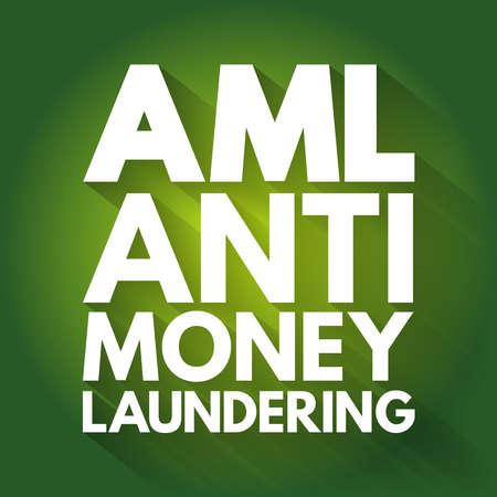 AML - Anti Money Laundering acronym, business concept background Vektoros illusztráció