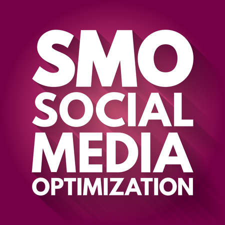 SMO - Social Media Optimization acronym, internet concept background