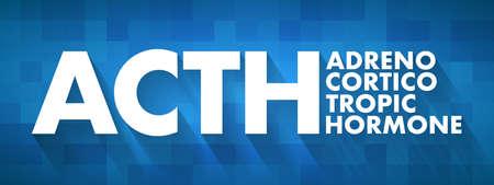 ACTH - Adrenocorticotropic hormone acronym, medical concept background Reklamní fotografie