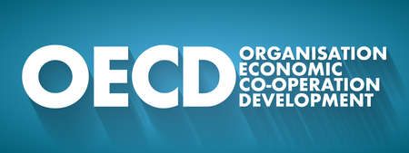 OECD - Organization for Economic Co-operation and Development acronym, business concept background