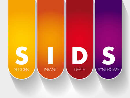 SIDS - Sudden Infant Death Syndrome acronym, medical concept background