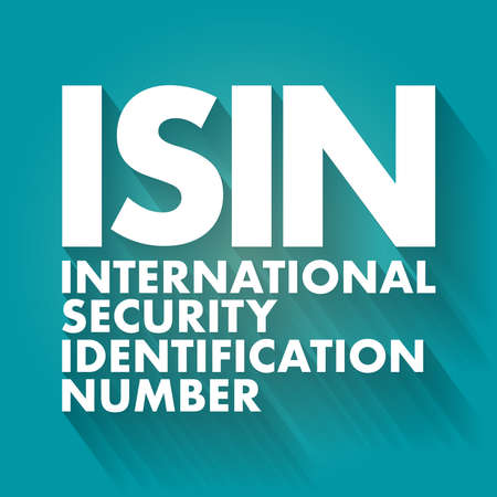 ISIN - International Security Identification Number acronym, business concept background Vecteurs