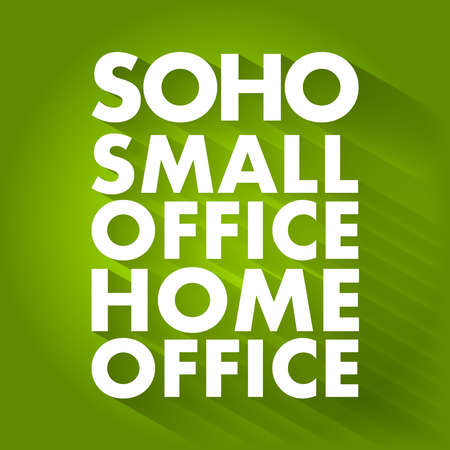 SOHO - Small Office / Home Office acronym, business concept background