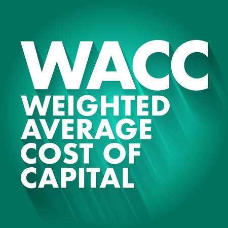 WACC - Weighted Average Cost of Capital acronym, business concept background Vektorové ilustrace