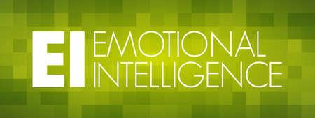 EI - Emotional Intelligence acronym, business concept background