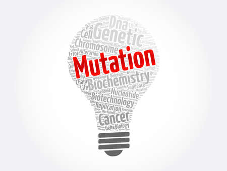 Mutation word cloud collage, medical concept background