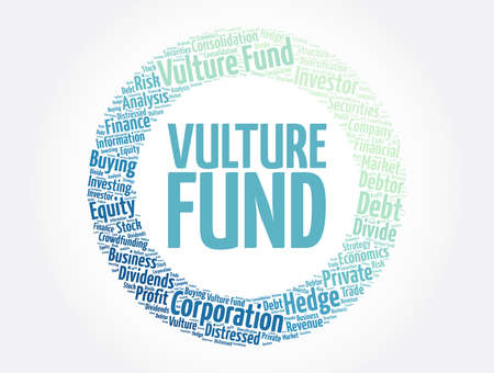 Vulture Fund word cloud collage, business concept background Vektoros illusztráció
