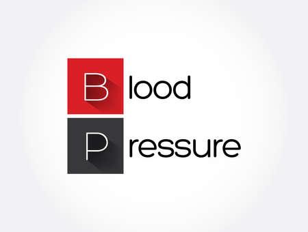 BP - Blood Pressure acronym, medical concept background Vektoros illusztráció
