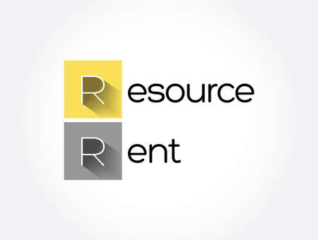RR - Resource Rent acronym, business concept background