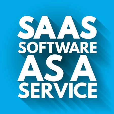 SAAS - Software As A Service acronym, business concept background