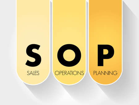 S&OP - Sales and Operations Planning acronym, business concept background Vektoros illusztráció